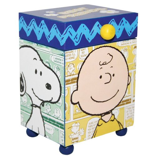 Westland Giftware Peanuts Wood Trinket Box, 4.25-Inch, Best Friends