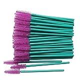 N-B 50pcs Makeup Eyelash Brushes Crystal Mascara Stick Applicator Diamond Eyelash Brush Disposable Makeup Tool