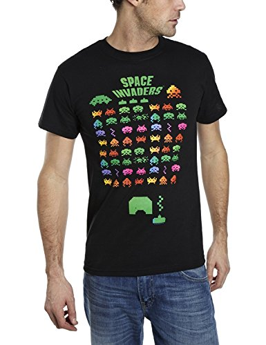 Coole-Fun-T-Shirts T-Shirt Space Invaders - Arcade - Level 256, schwarz, S, FT165