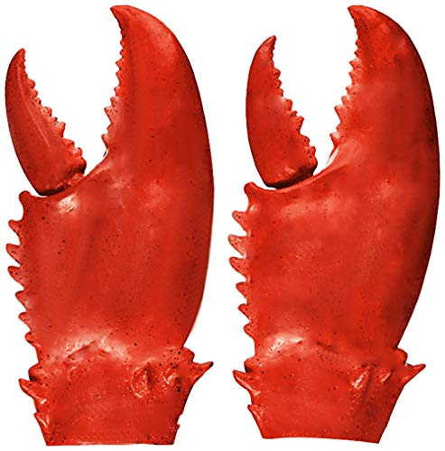 Cyber Deal Monday Deals Toys Funny Lobster Crab Claw Gloves Hands Weapon Props Red