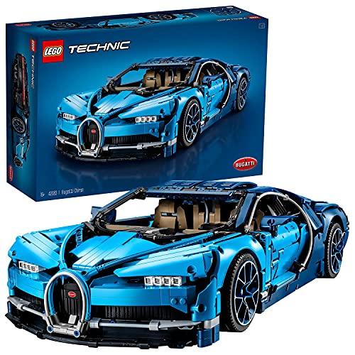 LEGO 42083 Technic Bugatti Chiron, Set de Construcción de Coche de Carreras, Modelo a Escala de Deportivo Coleccionable