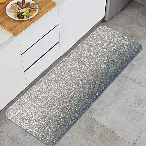 YANAIX Juegos de alfombras de Cocina Multiusos,patrón de Brillo Brillante,Alfombrillas cómodas para Uso en el Piso de Cocina súper absorbentes y Antideslizantes