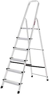 Oryx 23010004 Escalera Aluminio 6 Peldaños Plegable, Uso
