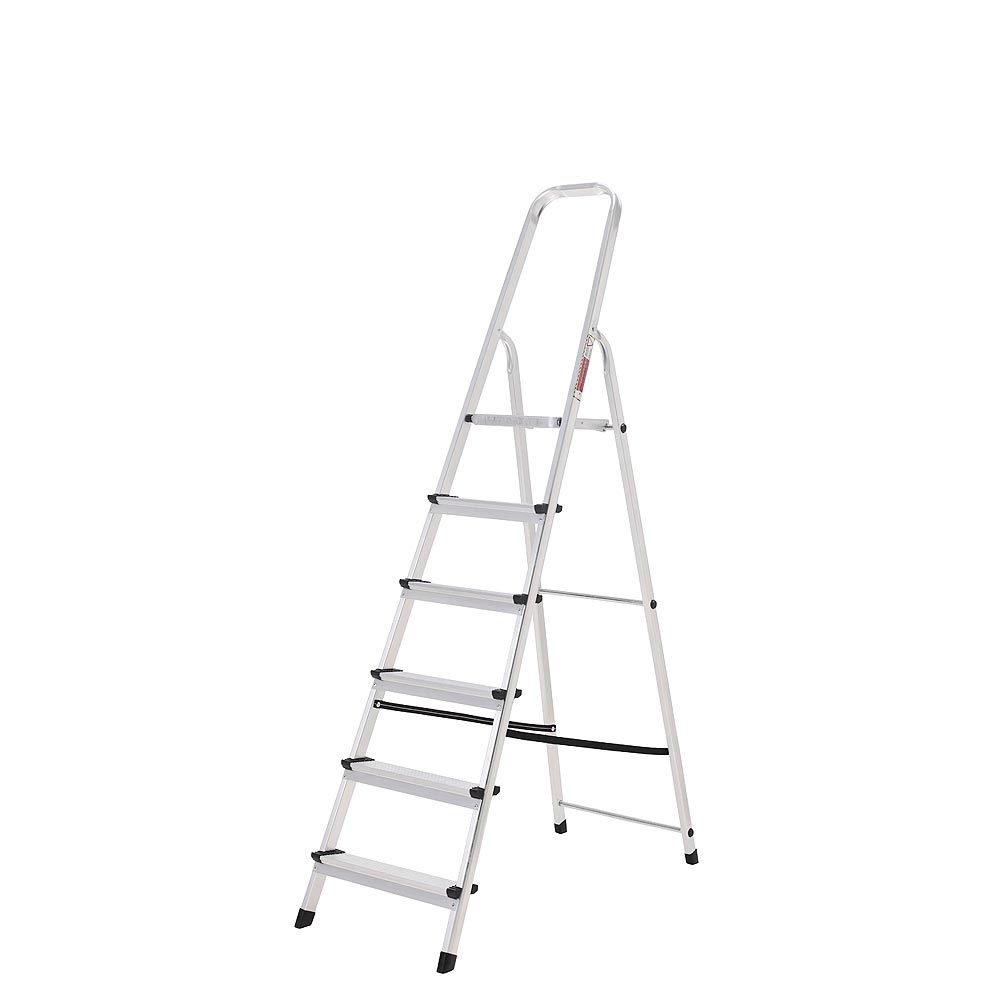 ORYX 23010004 Escalera Aluminio 6 Peldaños Plegable, Uso doméstico, Antideslizante, Ligera y Resistente: Amazon.es: Bricolaje y herramientas
