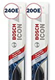 Bosch ICON Wiper Blades (Set of 2) Fits 2015-08 BMW X6; 2011-09 Hyundai Genesis; 2009-08 Ford Taurus & More, Up to 40% Longer Life