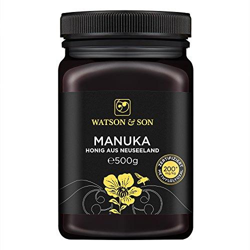 Watson & Son Manuka Honig MGO 200+ 500g, Zertifizierte Premium Qualität aus Neuseeland