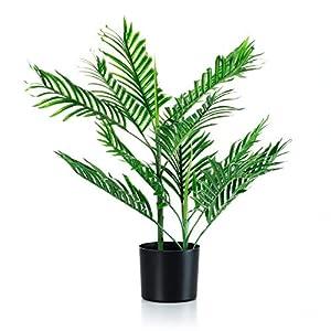 28″ Artificial Areca Palm Tree, FakeTropical Palm Plant for Home Office Décor