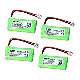 HQRP Cuatro Baterías para AT&T Lucent CL82309 / CL82359 / CL82409 / CL82509 / CL82609 / CL82659 Teléfono inalámbrico + HQRP Posavasos