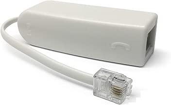 RocketBus DSL Phone Line Filter Adapter for ADSL DSL Modem/Router Fax Machine Device at&t Westell Actiontec TP-Link Netgear ASUS VDSL/VDSL Removing Noise Remove Problem