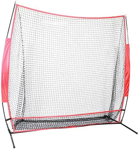 Portable Baseball Hitting Net Large Baseball Practice Net 7ft Indoor Outdoor Hitting Chipping product image
