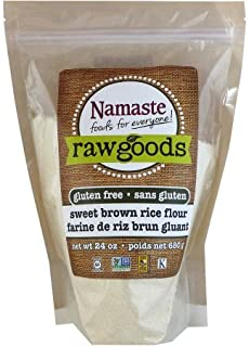 Namaste Foods Raw Goods Gluten Free Sweet Brown Rice Flour, 24 oz (Pack of 2)