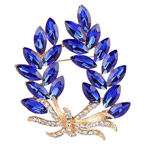 Jeanoko Spilla con Strass Squisito Brillante colorato Strass Scarpe Clip Durevole Cristallo Blu Elegante Scarpe da Sposa uniche Decorazioni per Le Donne Regalo Donne Ragazze