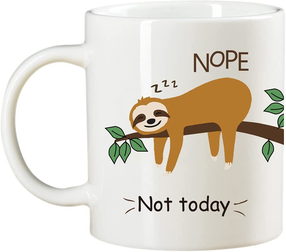 Funny Outlet SALE Novelty sloth Under blast sales coffee mug Ceramic Cup cute An