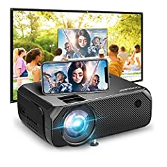 (Encode: DEZPJ44T to get a FREE Portable Projector Screen for this Wifi Christmas Projector)❥【True HD WiFi Projector On the Go】No need cables to connect devices to larger screens. Wireless screen mirroring movies, videos, apps, games, photos on the m...