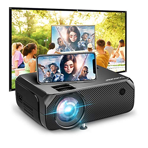 Wi-Fi Mini Projector, Bomaker Ultra Portable Projector for Outdoor Movies, 6000 Lux, HD Outdoor Movie Projectors, Wireless Mirroring, for iPhone / Android / Laptops / PCs / Windows /DVD Player