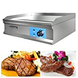 1600W 25.5' Electric Countertop Flat Top Griddle Grill Non-Stick Commercial...