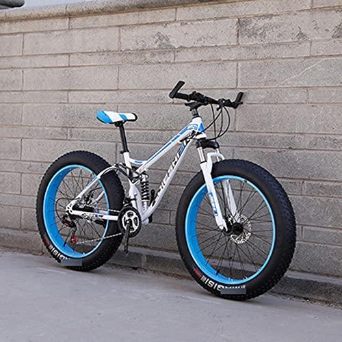 MLHH Bicicletas de montaña Ciclismo Cross Country Off-Road Bicicleta de Velocidad Variable MTB Road Fat Tire Bicicletas de Trail para Hombres y Mujeres 24 velocidades 24 Pulgadas