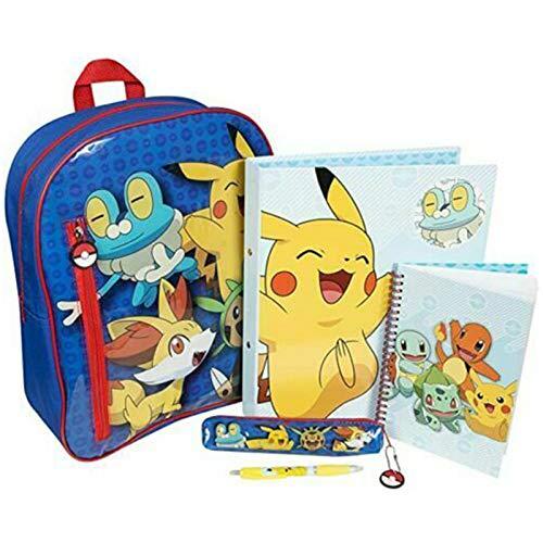HOCHSTE Kids Pokemon Filled Large Backpack with A4 Ring Binder Notebook Set Gift