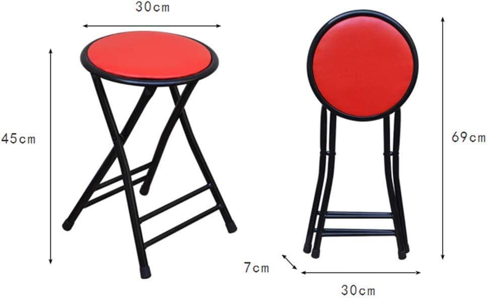 Tabouret Pliant Formation De Bureau Chaise Pliante Tabouret De Loisirs pour La Maison Gain De Place (Noir, Rouge) ZHAOFENGE (Couleur : Rouge) Rouge