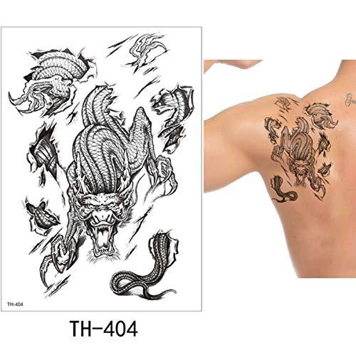 yyyDL Tattoo Aufkleber DIY Temporäre Tätowierung Aufkleber Mode Gefälschte Tätowierung Löwe Flash Tatto Wasserdichte Kleine Körperkunst Männer FrauenLink 15 * 21 cm 4 stücke