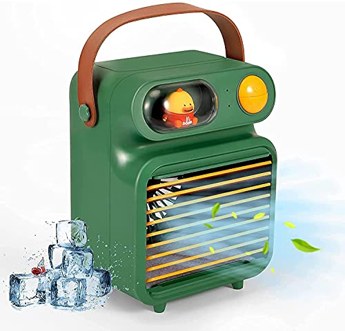 Humidificador de refrigerador de aire 3 en 1 Refrigeradores de evaporaciones personales Humidificador Purificador para dormitorio de oficina Home Travel Dormible Mini Mobile Air Acondicionador de aire