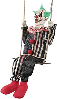 Morris Costumes Swinging Chuckles The Evil Clown Animated Prop Halloween Decoration