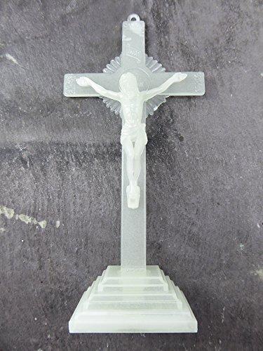 15,2cm 15cm Luminous Glow in the Dark Corpus Jesus stehend Kreuz Ornament Geschenk