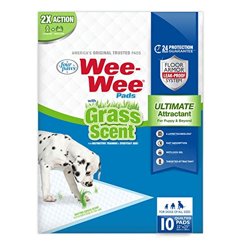 grass scented wee wee pads