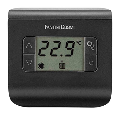 FANTINI COSMI ch112Termostato Ambiente a Pilas, 3temperaturas, Antracita