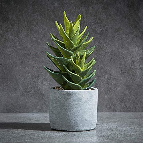 Powzz ornament Décoration Intérieur Cactus Vert Tropical en Pot avec des Plantes Simulées dans Le Nordique, Aloe Vera