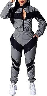 Womens 2 Piece Outfits Long Sleeve Windbreaker Tracksuit Pants Sets