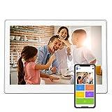 Cadre photo numérique avec écran IPS 10,1' 1920 x 1080 FHD avec photo/réveil/photo/lecteur vidéo/musique/calendrier/prise en charge USB et SD