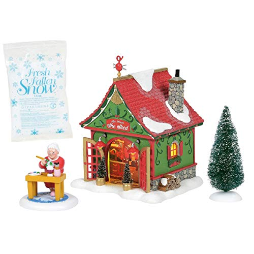 Department 56 North Pole Series Mrs. Claus's She Shed Lighted Building, 6.3 in H