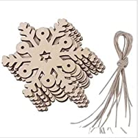 Big Bargain Store Wooden装飾 ストリング クリスマスデコレーション付き10pcs Type.9