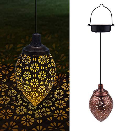 LED Solar laterne Gartenlicht Outdoor, Qxmcov Solarleuchten Garten Deko Solarlampen für außen, Wasserdicht Dekorative Solarlampe Hängend für Garten, Terrasse, Rasen, Hof und Wege