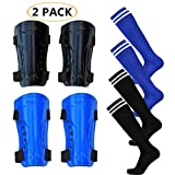 Haploon 2 Pair Knee Shin Guards Soccer Football Shin Pads Protector Calf Knee Protective Gear for 5-10 Old...