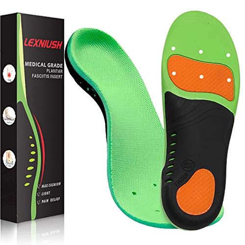 Plantar Fasciitis Arch Support Shoe Inserts Women & Men - Insoles Orthotic Inserts for Flat Feet, Cushioning Shoe Insoles for Foot Pain, Running, Heel Spurs, Arch Pain High Arch - Boot Insoles