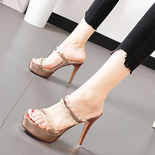 Xue Qiqi remaches con estilo elegante y versátil y cómoda con sandalias de tacón alto de convergencia de rocío.
