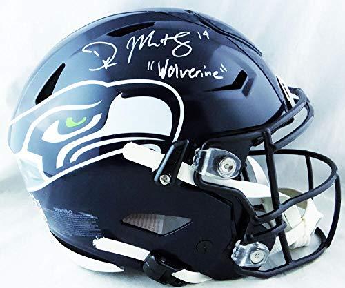 DK Metcalf Autographed Seattle Seahawks F/S SpeedFlex w/Insc - Beckett W Auth White