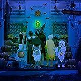 stimmt Halloween-Deko, Halloween Türklingel Animierter Augapfel mit Gruseligen Geräuschen, Halloween-Dekoration für Spuk Haus Party Türen Outdoor - 3