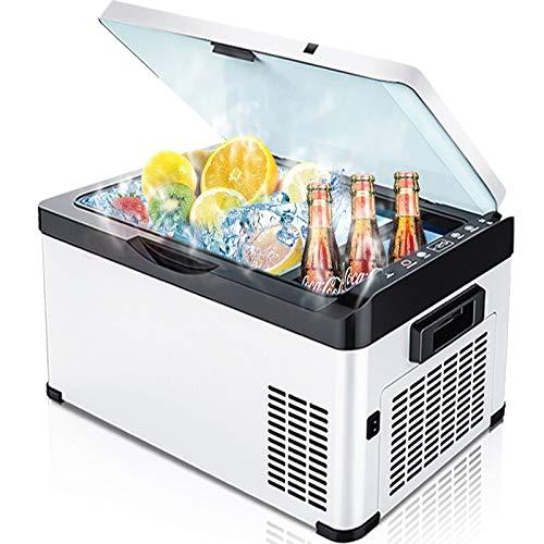 LIXUDECO Mini nevera de 20/26/30 litros CA/DC12V24V congelador profundo portátil al aire libre picnic camping RV compresor refrigerador refrigerador caja (nombre de color: 30 litros)