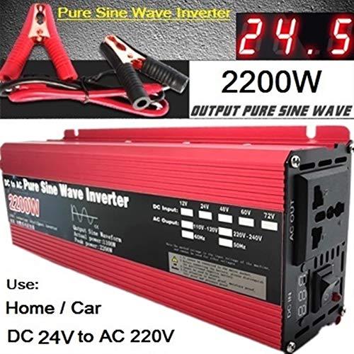 GAOLE Inversor de onda sinusoidal puro DC 12V / 24V a AC 110V / 220V 1000W 1600W 2000W 3000W Transformador de voltaje convertidor de energía inversor solar