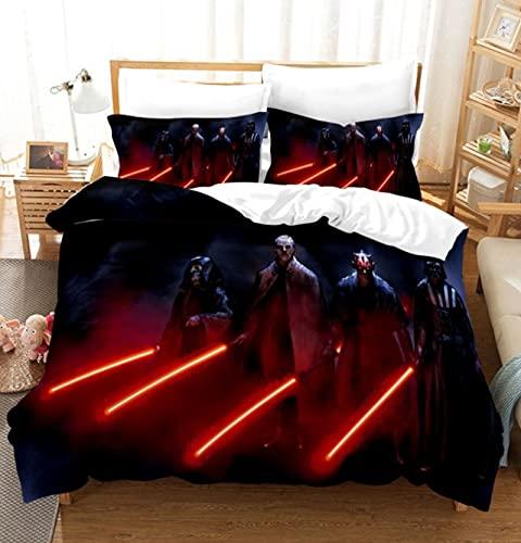 ysldtty 3D Bedding Set Printed Star Wars Home Textile Colorful Bedding Set Cool Duvet Cover Pillow Cases P0574W 220CM x 240CM With 2 pice pillowcase 50CM x 75CM
