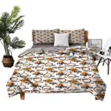 Four-Piece Bedding Bed Sheets Bed Sheets Queen Set Latte and Espresso Quote Winter Bedding W85 xL85