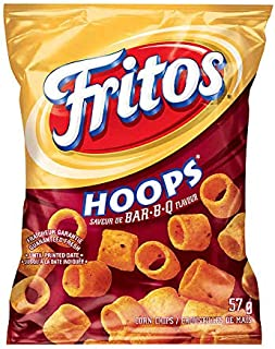 Frito Hoops Bar-B-Q Corn Chips, 57g/2oz., {Imported from Canada}