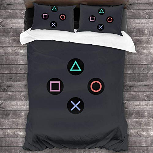Playstation Joypad 3-Piece Bedding Set Duvet Cover Quilt Covers Pillow Case Cushion C1119
