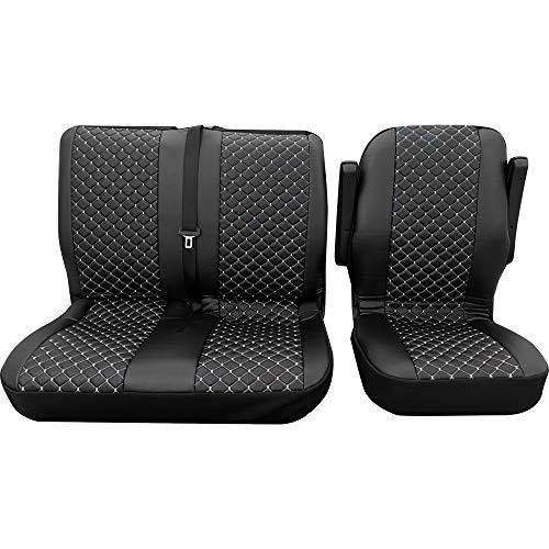 Stoelhoezen hoes 3-dlg. Stoelhoezen stoelbekleding VW T5 Transporter T6 Vito enz.