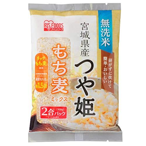 【精米】アイリスオーヤマ 宮城県産 つや姫 もち麦ミックス 生鮮米 新鮮個包装パック 2合パック 令和元年産 ×30個