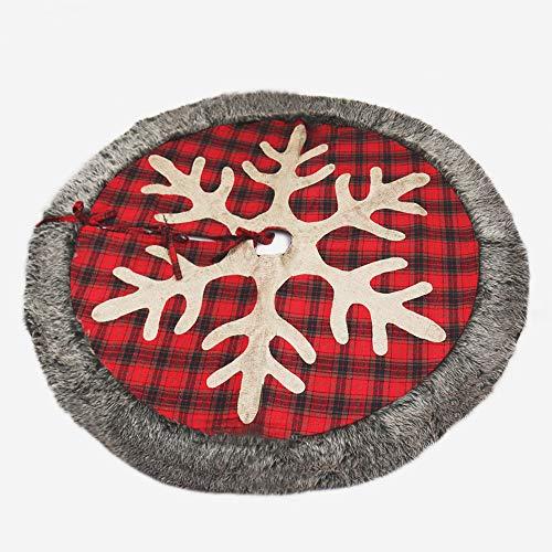 Proumhang Weihnachtsbaum Rock 48 Zoll große Schneeflocke Plüsch Tanne Fußabdeckung