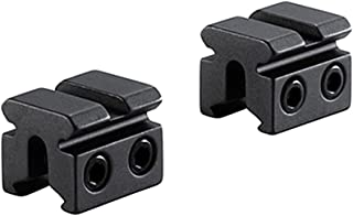 BKL 2-Pc 3/8 or 11mm Dovetail to Weaver Adapter, 1 Long, Matte Black
